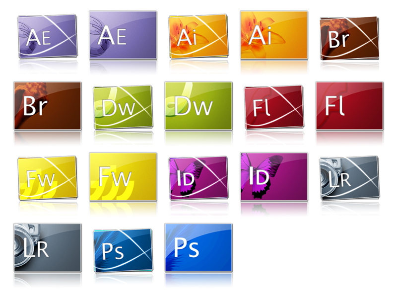 The glare lines style adobecs3 series icon png
