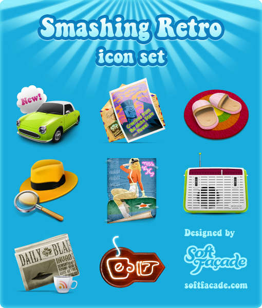 The nostalgic vintage items icon (png & ico)