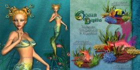 Undersea elements psd material