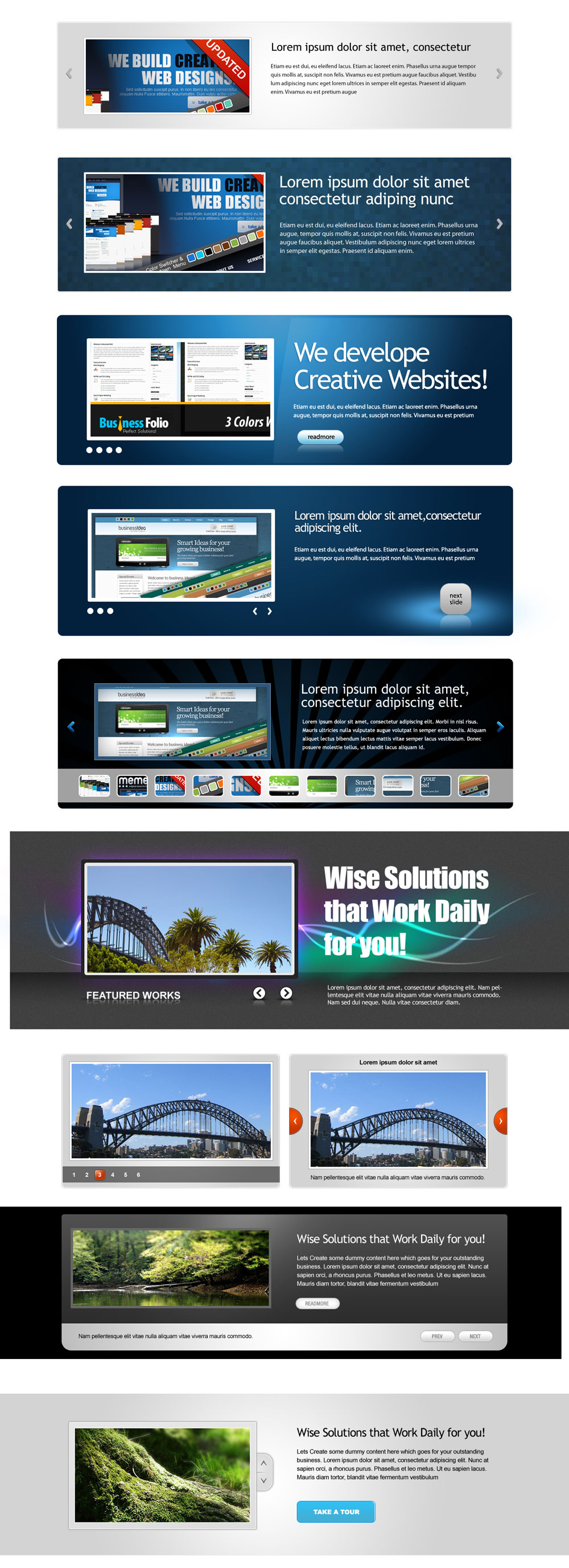 Web banner   psd layered material