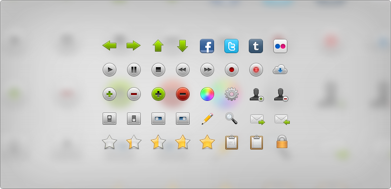 Web2.0 trend vector icons a collection of