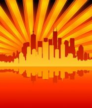 City the reflection vector material