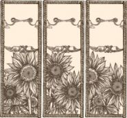 Hand painted sunflowers Vector