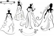 Line issued on bridal 01 vector material