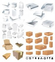 Packing boxes and cartons template Vector