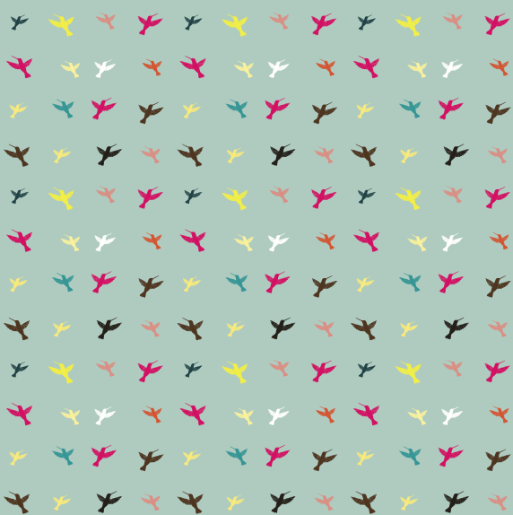 Wings the birds points like decorative shading pattern vector