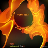 Flame text background vector material