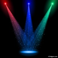 Brilliant stage lighting 01 vector material