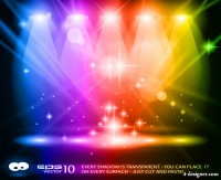 Brilliant stage lighting 02 vector material