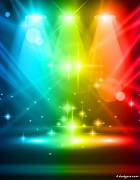 Brilliant stage lighting 03 vector material