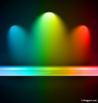 Brilliant stage lighting 04 vector material