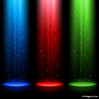 Brilliant stage lighting 05 vector material
