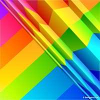 Colorful origami background design vector material base map