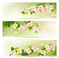 Creative zipper style spring floral text template vector material 02