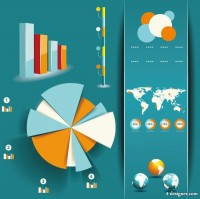 Design elements of information graphics and charts 02 vector material