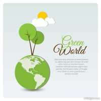 Green World vector graphics material