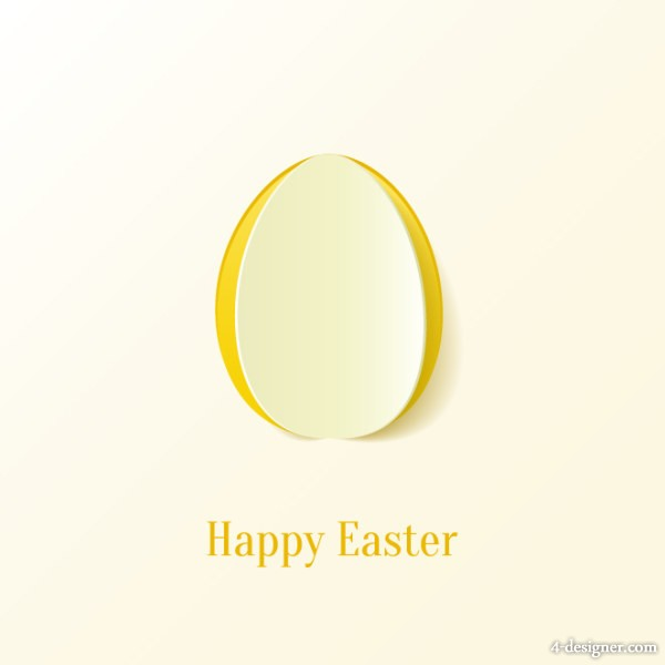 Beautiful card for Easter 03 vector material