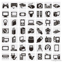 Common black and white icon set 02 vector material