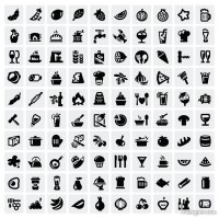 Common black and white icon set 09 vector material