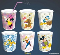Disney s classic animated characters cups template vector material