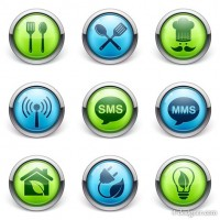 Exquisite 3D stereo daily icon design vector material 01