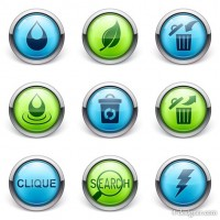 Exquisite 3D stereo daily icon design vector material 02