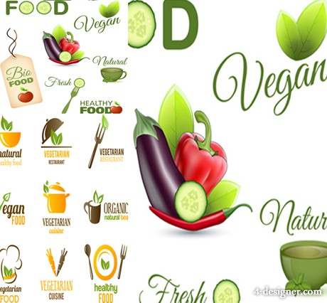 Fresh food food icon design vector material