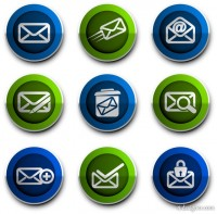 Mail theme icon vector material 02