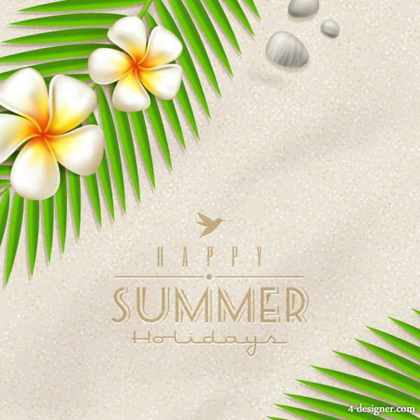 Beautiful summer background 01 vector material
