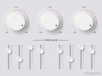 Beautiful white knobs vector material