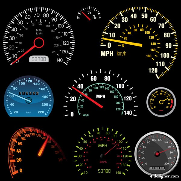 Beautifully dashboard 01 vector material