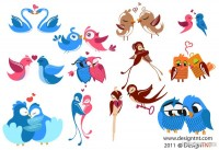 Cartoon animal images vector material