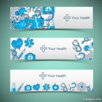 Creative Banners medical element vector material 02