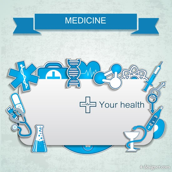 Creative banner vector material 01 medical elements