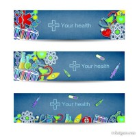 Creative banner vector material 03 medical elements