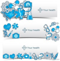Creative banner vector material 04 medical elements