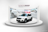 Creative car show exhibition design template PSD layered material 03