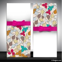 Exquisite greeting card background 01 vector material