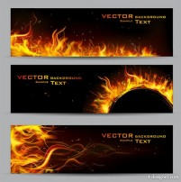 Flames decorative background vector material 01