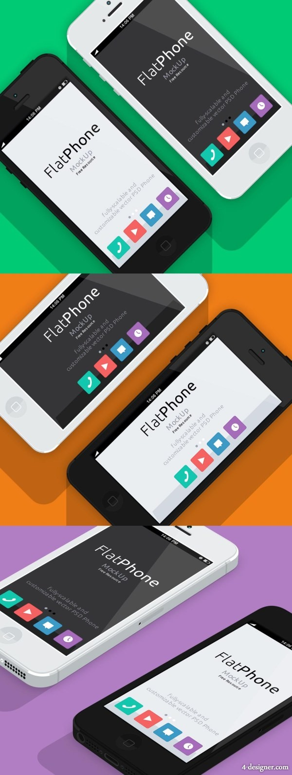 Flat model PSD for iPhone5