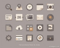 Flattening trend icon PSD material 02