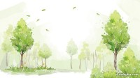 Fresh watercolor forest PSD layered material