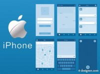 IPhone wireframe toolkit vector material