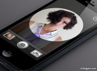 IPhone5 camera interface UI