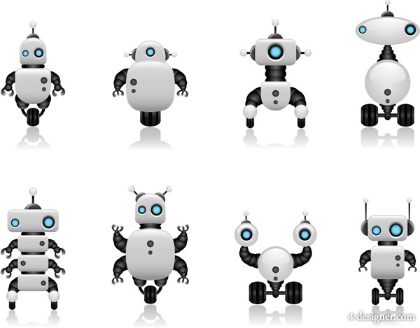 Intelligent robot design vector material 02