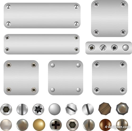 Metal rivets background vector material 02