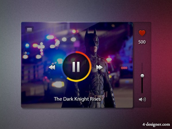 Music player UI interface