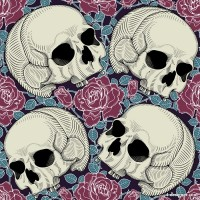 Skull background pattern 02 vector material