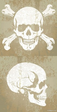 Skull background pattern 03 vector material