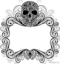 Skull background pattern 06 vector material